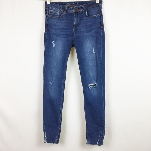 167f9104 Zara Jeans | Ripped Skinny Size 4 Distressed Denim | Poshmark